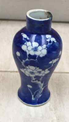 19th century Chinese prunus blossom vase
