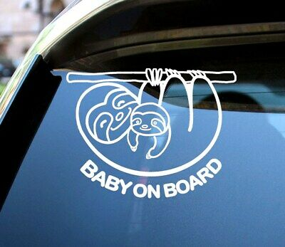 Baby On Board Decal Mammy and Baby Sloth High Quality Car Decal Sticker