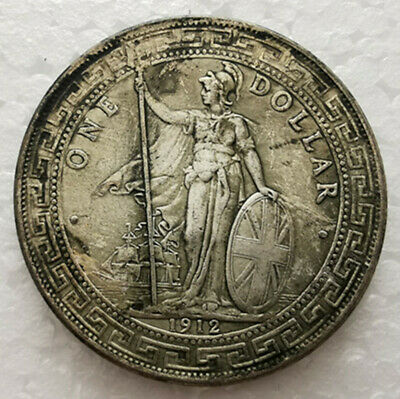 Great Britain UK Trade 1 Dollar 1900 Year Mint Silver Coin Nice Lustre UNC