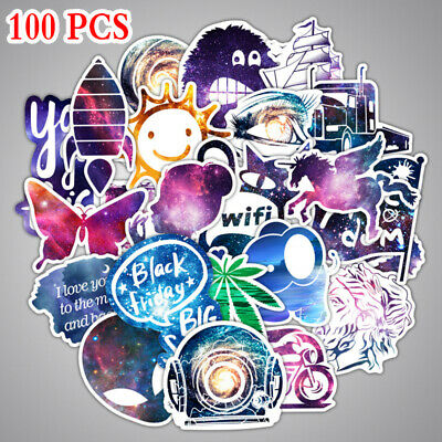100 Funny Skateboard Stickers Vinyl Laptop Luggage Decals Dope Sticker lot cool