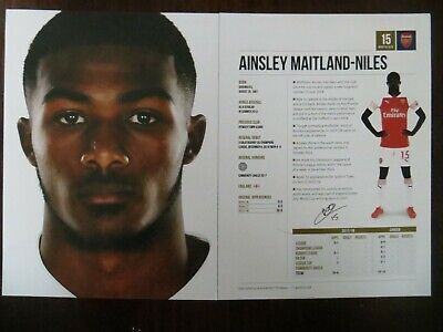 Autogrammkarte AK *AINSLEY MAITLAND-NILES* FC Arsenal London 18/19 2018/2019