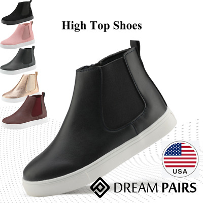 DREAM PAIRS Kids/Toddler Boys Girls Toe Slip On High Top Sneaker Shoes Boots
