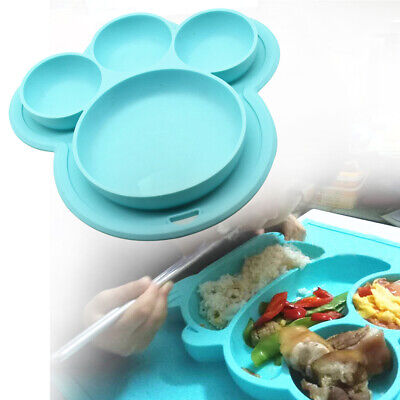 Baby Kids Table Food Tray Placemat Plate Bowl Dish Feeding Dish Tableware Cute