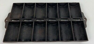 Vintage Cast Iron N. E. S. NO 11 French Roll Corn Bread Pan