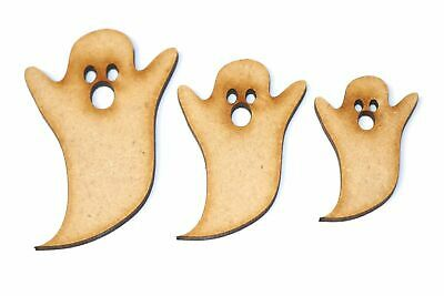 Wooden MDF Friendly Ghost Shape Bunting Craft Embellishment Halloween Decoration