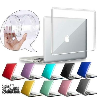 "For 11"" 12"" 13"" 15"" MacBook Air/Pro/Retina Crystal Clear Hardshell Case Cover"