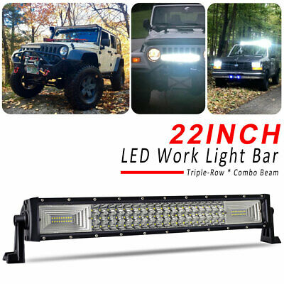 22INCH LED Light Bar Triple Row Combo Beam Work Driving Off Road 4WD 20'' 23""