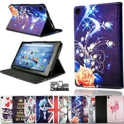 For Amazon Fire HD 10 5/7/9th Gen Alexa Tablet -Smart Leather Stand Cover Case