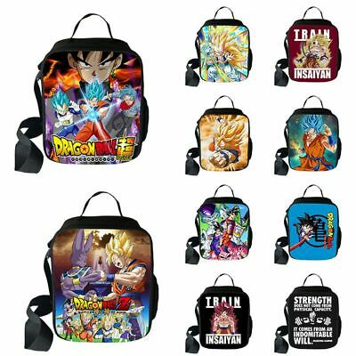 Dragon Ball Z Goku School Backpack Insulated Lunch Bag Pen Case Shoulder Box kid