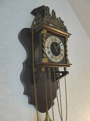Zaanse Zaandam Dutch Antique Vintage Wall Clock