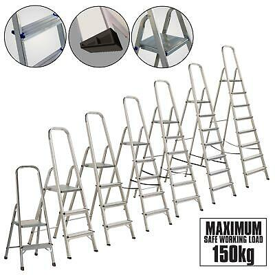 Lightweight Aluminium Step Ladder Folding Portable Ladders Safety Non-Slip Step