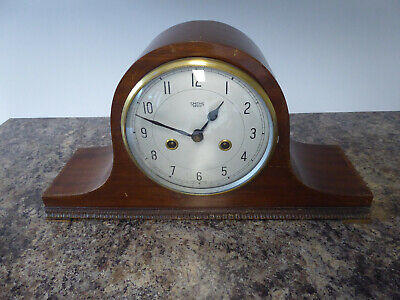 Mantle clock  spares / repair, with pendulum , Smiths Enfield.