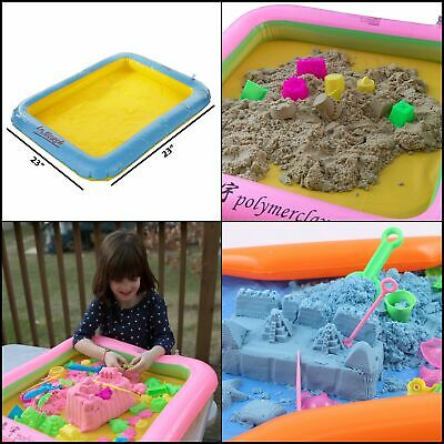 """Inflatable Sand Tray 23""""X23"""" for Kinetic Sand Sensory Activities Toy Kids Play"""