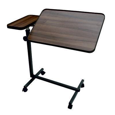 Deluxe Over Bed Table With Tilting Surface & Small Static Table With 4 Castors