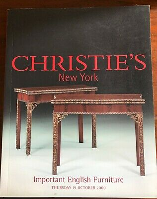 Christie's Auction Catalogue, New York, Important English Furniture.