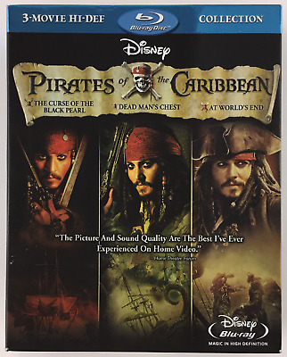 Pirates of the Caribbean Trilogy *Slipcover/Slipcase ONLY* for Bluray COLLECTION