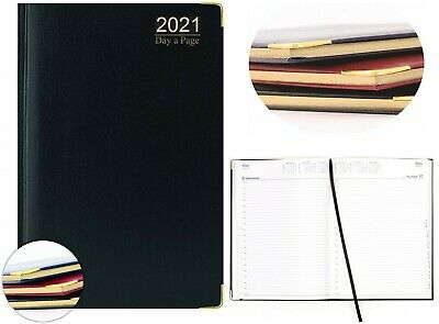 Premium Quality A4 / A5/ A6 Day To Page Hardback Padded metal corner Diary 2021