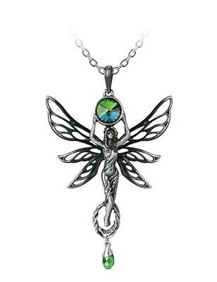 Victorian Trading Co The Green Absinthe Fairy Pendant Necklace