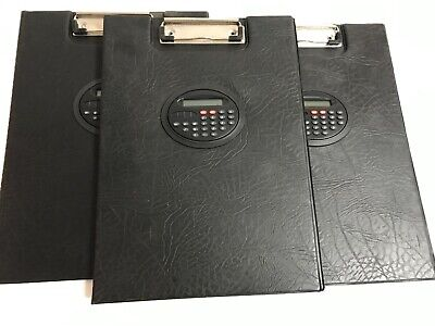 Lot of 3 - heavy duty clipboard with calculator