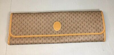 Vintage GUCCI Monogram Folding Travel Tie / Necklace Holder Case