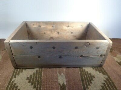 Old Vintage Wooden Supply Box -  Mining Box - Shipping Crate - Horseshoe Box