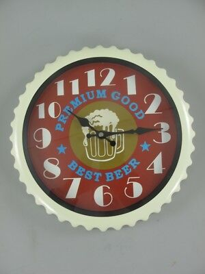 Wall Clock Iron / Glas Battery round D.31cm Gift in Vintage Aesthetics Wall Deco