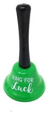 RING FOR LUCK BELL IRISH St Paddy Hand Held Gift Sports Party Children Green NEW