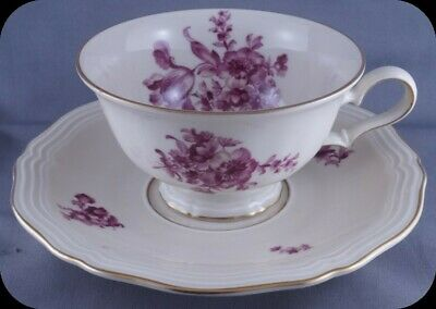 Rosenthal Bahnhof Selb Germany Chippendale Pink Floral Cup and Saucer (4 avail)