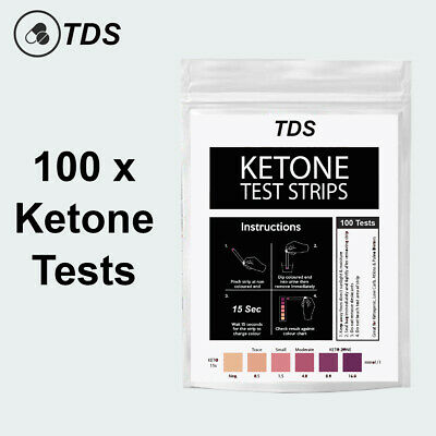 100 x Ketone Test Strips - KETO Urine Tests - Ketosis Ketostix Paleo Diet