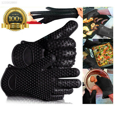 1PC Silicone Heat Resistant Gloves Oven Pot Holder Kitchen BBQ Cooking Mitts