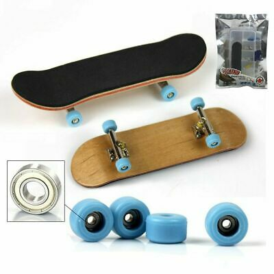 Complete Wooden Fingerboard Finger Skate Board Grit Box Foam Tape Maple Kid Toy