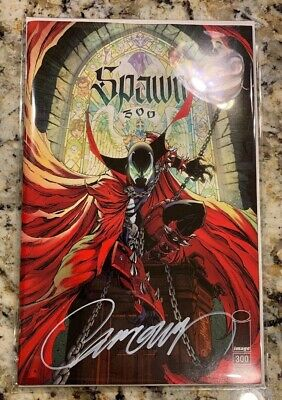 Spawn #300 SIGNED W/ COA by J. Scott Campbell -Variant G Regular