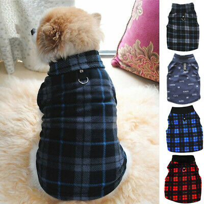 Small Dog Clothes Vest Sweater Hoodie Shirt Jacket Coat Pet Puppy Winter Clothes