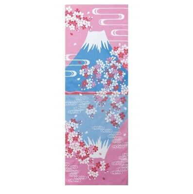 TENUGUI Japanese Cotton Towel MADE IN JAPAN 100X35cm Mt.Fuji Cherry Blossoms