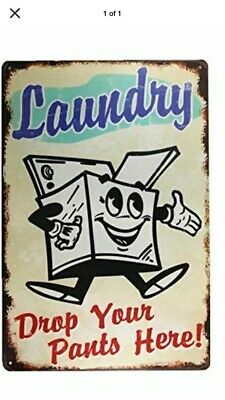 TIN SIGN A991 Laundry Room Cottage Farm Cleaners Rustic Laundry Metal Decor