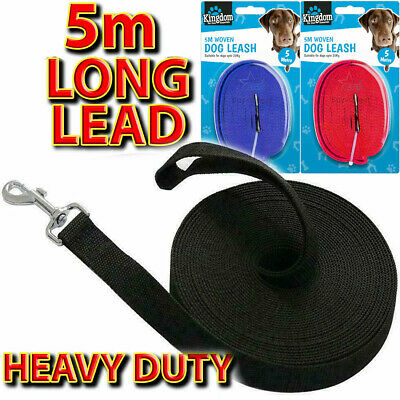 🔥5 Meters Long Strong Dog Training Lead Strong Leash Large Recall Line Walking