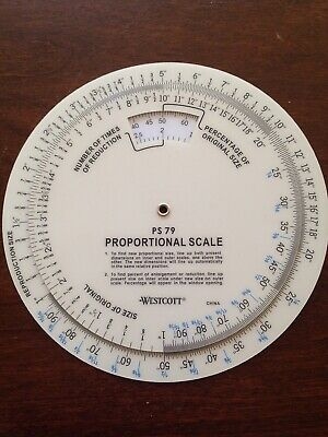PS 79 proportional scale 6 inch reduction enlargement art craft drawing supply