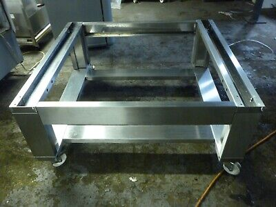 Zanolli Gas pizza oven stainless steel stand with wheels