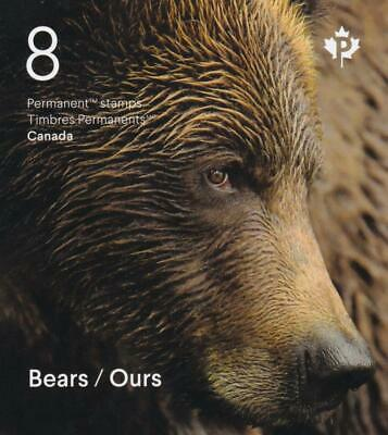 Canada MNH 2019 Bears of Canada, booklet of 8 'P' stamps