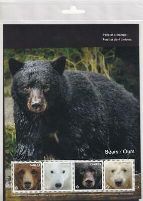 Canada MNH 2019 Bears of Canada, pane of 4 in sealed package