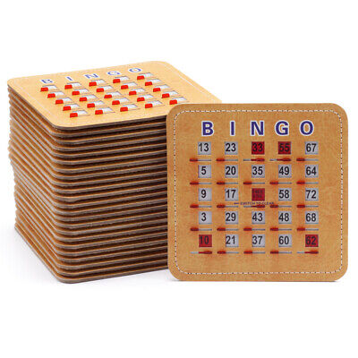 Stitched Reusable Shutter Slide Bingo Cards w/Shutter Clear Slider (25-Pack)