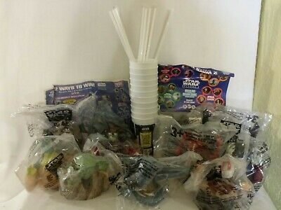 Star Wars Episode 1 - 11 Plastic Cup 10 Straws & Toppers Pizza Hut Taco Bell KFC