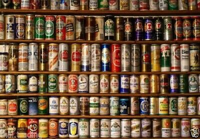 Vintage Beer Cans Photo Fridge Magnet 2 x3 Collectibles