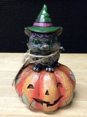 """Jim Shore """"Mischief In The Making"""" Halloween Figurine    New With Tags"""