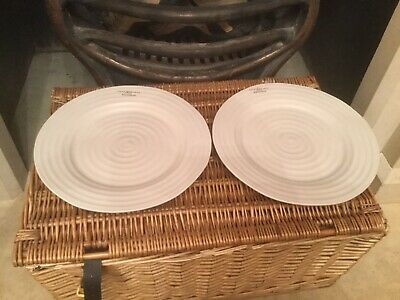 Sophie Conran For Portmeirion - Pebble Ripple - Dinner Plates x 2 NEW