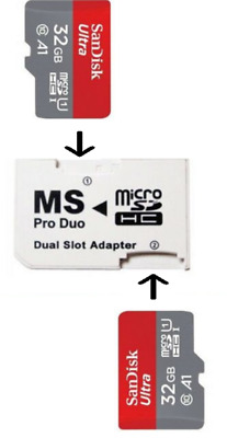 64Gb Memory Stick Pro Duo Adapter For Sony Psp 3001 3000 2000 1000 E1000 E1003