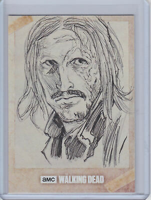 2017 Topps Walking Dead Evolution SKETCH Card Dwight by James O'Riley #1/1