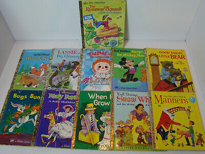 Lot of 11 A Little Golden Vintage Walt Disney Classic Kids Books MIX UNSORTED