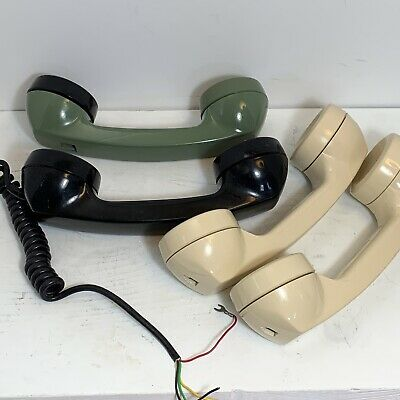 Rotary Phone Receivers (4) Stromberg Carlson, ITT, Western Electric - PARTS