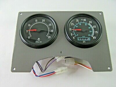 NOS Brushed Nickel International Dash Cluster Speedometer Tachometer 1682007C91